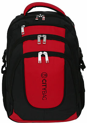 Laptop Backpack 15.6 Inch Business Bag Commuter Water Resistant Case Red