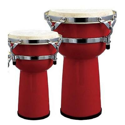 Extreme Jbsh12-25 Djembe 12? In Legno Pelle Naturale Colore Rosso