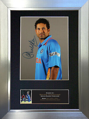 SACHIN TENDULKAR Signed Autograph Mounted Photo Repro A4 Print no548