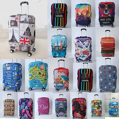 """19""""-32"""" Luggage Protector Elastic Travel Protective Suitcase Dustproof Cover Bag"""