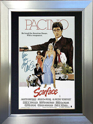 AL PACINO SCARFACE Signed Autograph Mounted Reproduction Photo A4 Print no12