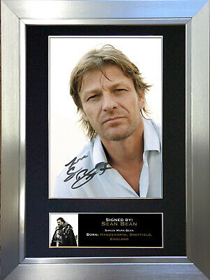 SEAN BEAN Signed Autograph Mounted Reproduction Photo A4 Print no177