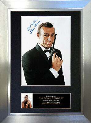 SEAN CONNERY Signed Autograph Mounted Reproduction Photo A4 Print no130