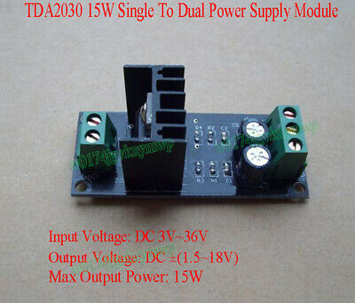 TDA2030 15W Single To Dual Power Supply Module Positive Negative Power Output M