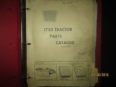 Oliver, White & Cockshutt 1755 Tractor Parts Catalog Book Manual Original 1971