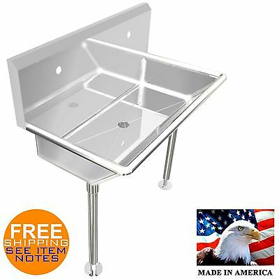 """Industrial 2 Users Multistation Wash Up Hand Sink 36"""" Stainless Steel With Legs"""