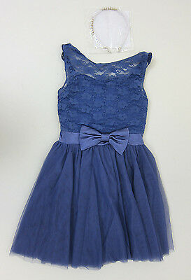 Weissman Costumes All I've Ever Needed Lace Dress and Headband - Girls Large NWT