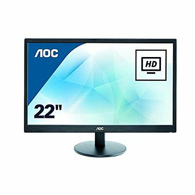 "Monitor PC Led 22 pollici AOC E2270SWN LCD 21.5"" Eco Mode Elegante Nero e-Saver"