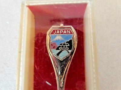 Japan Cloisonne and Nickle Silver Colllector's Spoon - New in Box