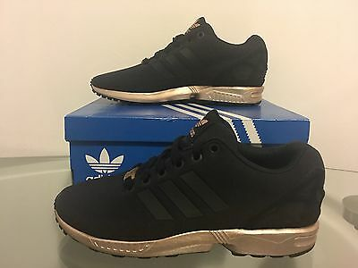 promo code d8044 5db48 ADIDAS ZX FLUX Core Black Copper Torsion Rose Gold S78977 Women's 6-11  Limited