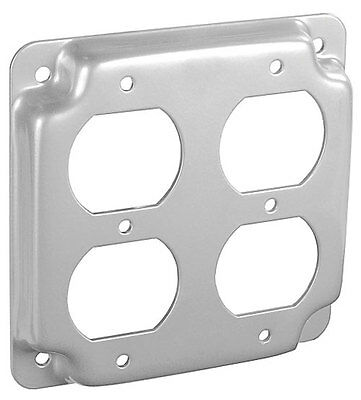 """10pc 4/"""" Square Finished Industrial Cover Single Receptacle Electrical Box Outlet"""
