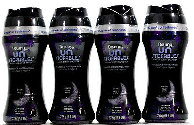 4 Downy UN Stopables In Wash Scent Boosters 12 Weeks of Freshness Dreams 9.7 OZ