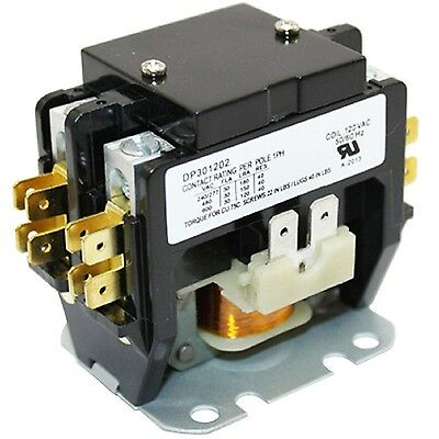 ac air conditioner 2 pole definite purpose contactor 30 fla 40 a 24  ac magnetic coil contactor c230b 2 pole 30a 120v air conditioner compressor part