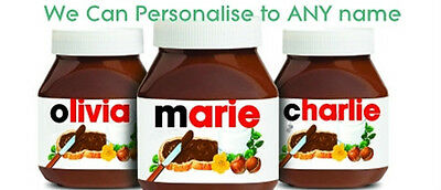 Personalised nutella label for 400g nutella jar name custom gift idea