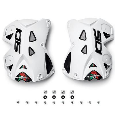 NEW Sidi MX Crossfire 2 Motocross Boots Replacement White Rear Upper Covers Pair