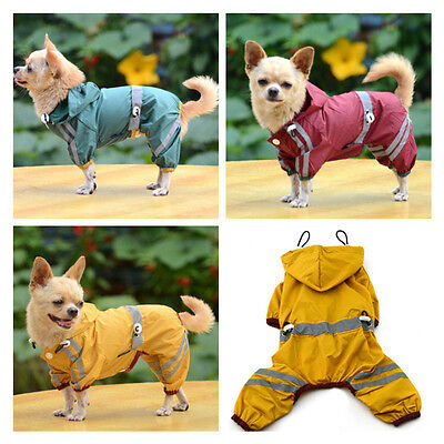 New Pet Rain Coat For Small Puppy Dogs Jacket Cute Casual Waterproof Dog Clothes