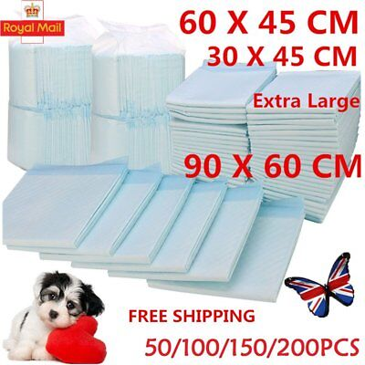 50/100/150/200 60X45cm LARGE PUPPY TRAINING PADS TOILET PEE WEE MATS PET DOG CAT