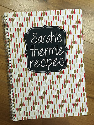 A4 Personalised Thermie Recipe Journal Thermomix Recipes cook book thermo mix