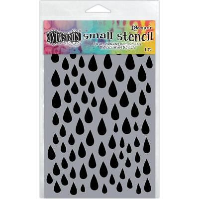 Dylusions Stencil - Small 5x8 - Raindrops
