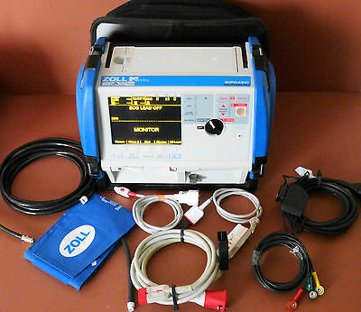 Zoll M Series Defib with 12 Lead ECG,SPO2,NIBP,Therapy Cable,Bluetooth Defib