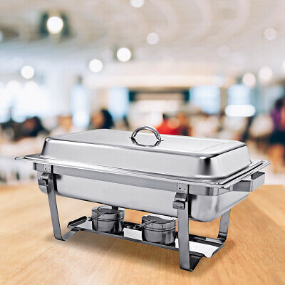 Set 2 x Chafing Dish professionnel réchaud dish inox repas plus chaud table dish