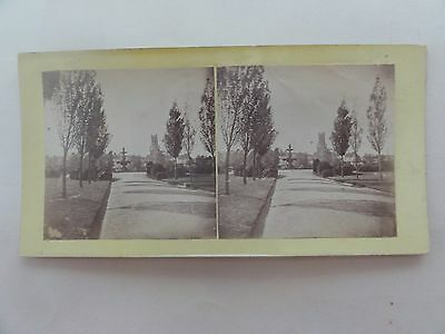 Launceston Princes Square Steroscopic Card Samuel Clifford 1870 Tasmania