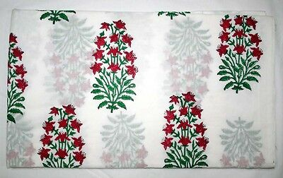 White With Red Spots Green Mix Light Weight Cotton Fabric By 10 Yard