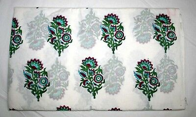 10 yard Ethnic Handcrafted Fabric Hand Print Fabric