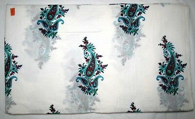 Paisley Floral Craft Indian Handmade Fabric By 10 Yard