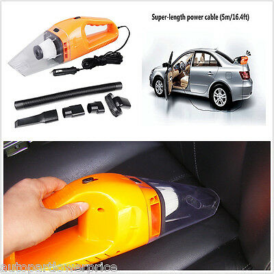 Portable Super Cyclone Handheld Car Vacuum Cleaner Wet Dry 12V 120W 14.7ft Dirt