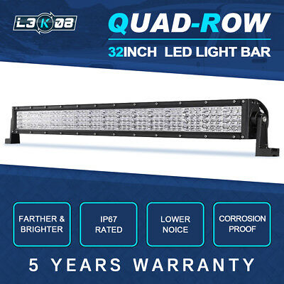 32inch 2160W PHILIPS LED Work Light Bar Flood Spot Offroad UTE 4WD SUV 28/31/36""