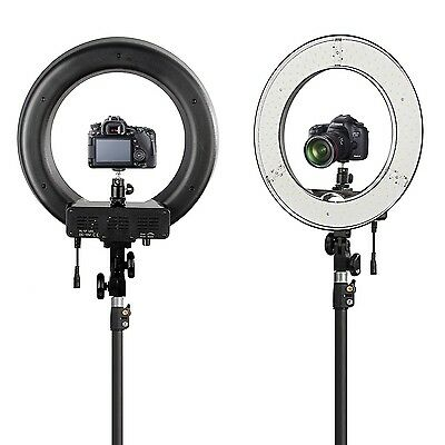 """AU ES180 LED 13"""" 180pcs 36W 5500K Dimmable Ring Light, Diffuser, Ball Head, Bag"""