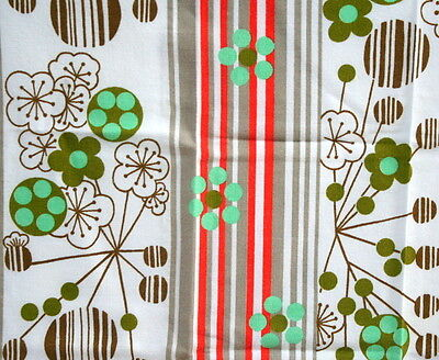Linge de table vintage orange et vert