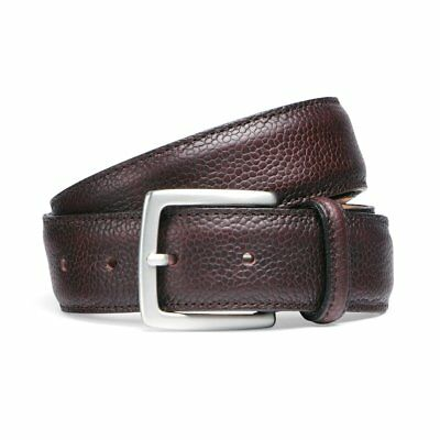 Cheaney Burgundy Grain Belt with Silver Buckle