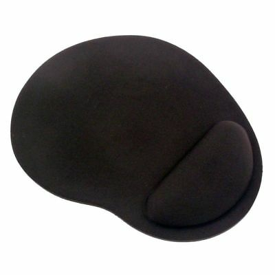 Gel Mouse Pad Mat With Wrist Rest Support - Black