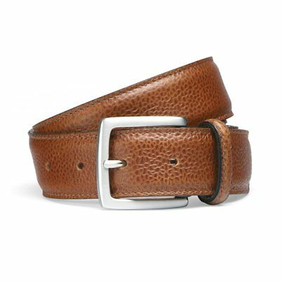 Cheaney Almond Grain Belt with Silver Buckle