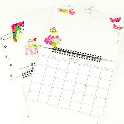2017 Hanging Wiro Memo Board Wall Calendar Family Organiser With WipePen