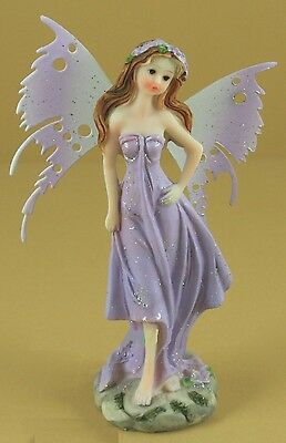 Fairy Figurine Resin with Metal Wings