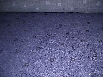 """purple square pattern cotton polyester blend fabric clearance sale fully FR 56""""W"""