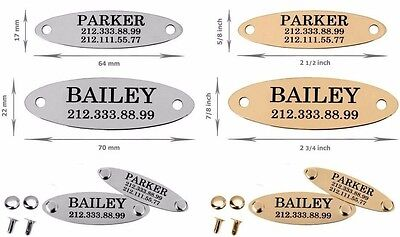 Oval Nameplate Personalized Custom Engraved Door Desk Sign Dog Collar ID Name
