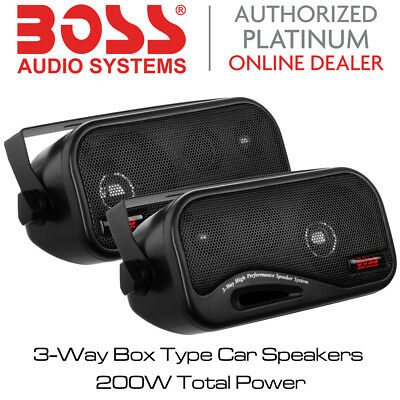 Boss Audio AVA-6200 - 3-Way Box Type Car Speakers 200W Total Power BNIB
