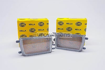 VW Golf MK3 Vento Clear Front Indicators Repeaters Pair Driver Passenger Hella