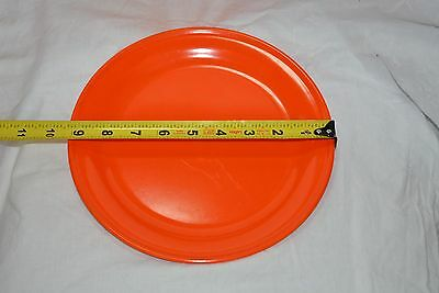 Vintage orange plate ( 2 items ) ( store bte#20 )