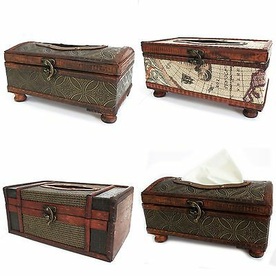 Antique Reproduction Colonial Style Tissue Box Cover - Retro Vintage Rectangle