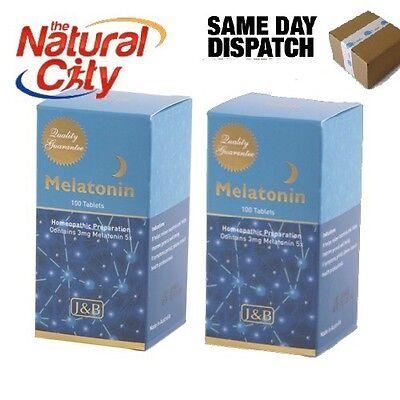 BEST PRICE Johnson & Barana Melatonin (homeopathic 5x) 3mg 100 Tabs x 2
