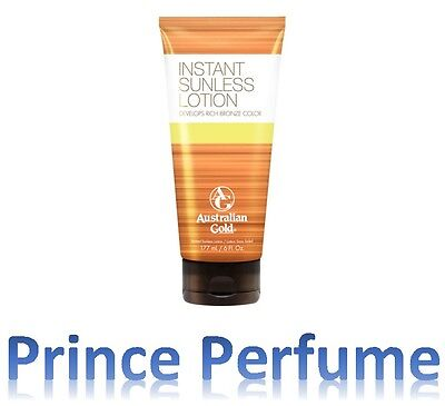 AUSTRALIAN GOLD INSTANT SUNLESS LOTION DEVELOPS RICH BRONZE COLOR - 177 ml