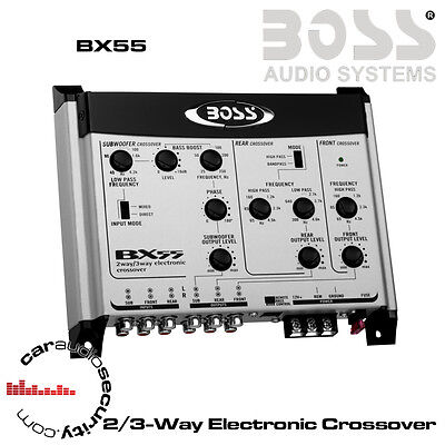 Boss Audio Systems BX55 - 2/3-Way Electronic Crossover with Bass Remote