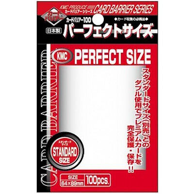 KMC Clear Perfect Fit Sleeves - Pokemon MTG Standard Size Deck Protectors (100)