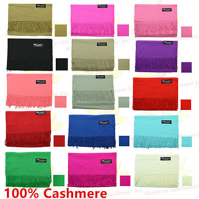 Wholesale Lot 100% CASHMERE Scarf Pure Solid Colored Wool SCOTLAND Men Women