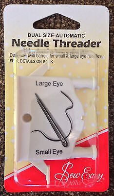 NEEDLE THREADER Dual Size Automatic for small & large eye needles